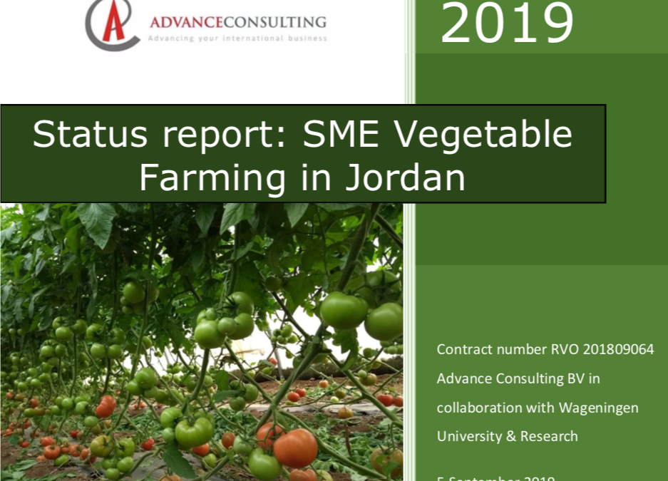 Status report: SME Vegetable Farming in Jordan